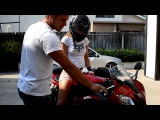 How to Ride (Drive) a Motorcycle | 2007 Yamaha R6 600cc Candy Red; stock exhaust