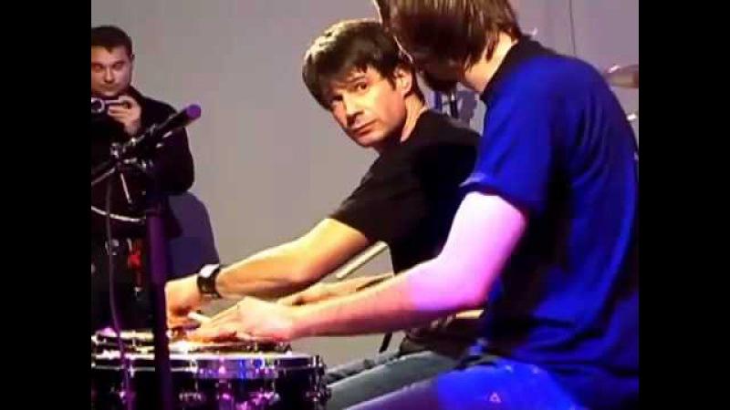 Benny Greb Johnny Rabb @ Meinl Drum Festival 2008 (Part 1)