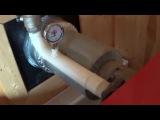 Установка твердотопливного котла в деревянном доме.