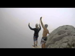 Алексей Ярыгин Ильяс-кая роупджампинг в Крыму с командой Скайлайн