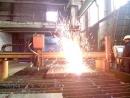 Fire show лист металла 110мм газовой горелкой