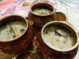Рис с рыбой и овощами в горшочках.  Вторые  блюда.