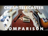 Cheap Telecaster Comparison!