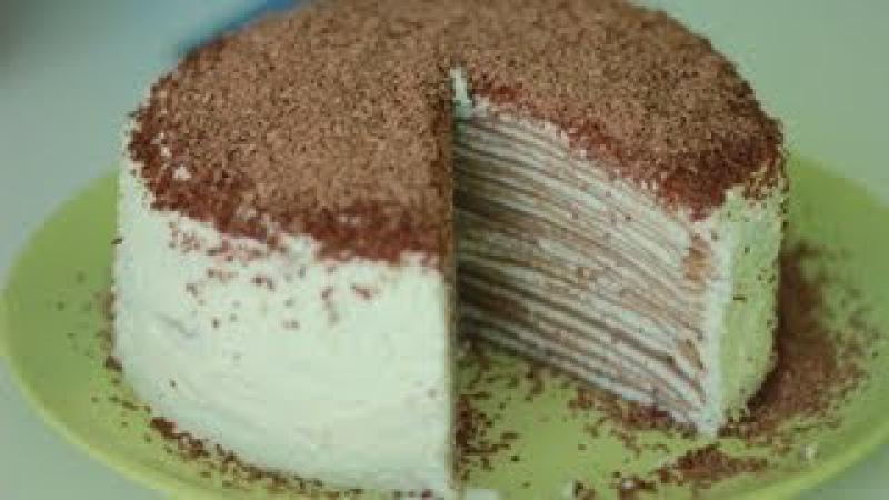 Рецепт блинного торта Блинный торт с кремом смотреть онлайн без регистрации