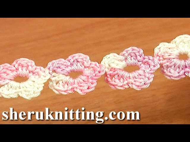 Crochet Floral Cord Tutorial 55 Five Petal Flower Cord