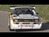 Hillclimb MONSTER Audi Quattro S1 Group B with 770 HP. Awesome Loud Sound Amazing Speed!