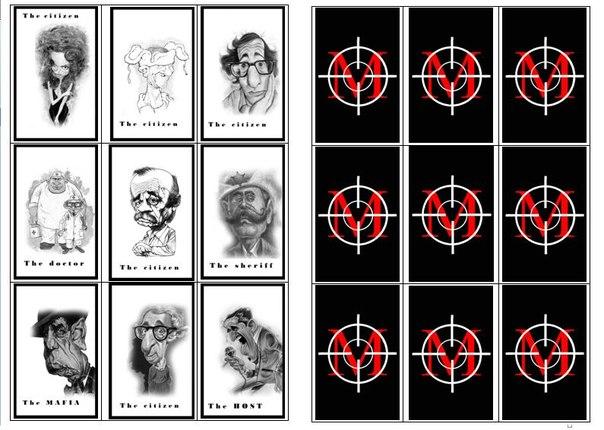 карты мафии распечатать