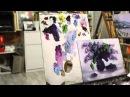 Алла Белопесоцкая видеоурок живопись маслом сирень - YouTube
