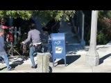 Съёмки сериала «Восьмое чувство» — сцена с Джейми Клейтон в Сан-Франциско