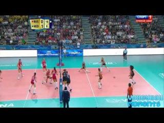 Волейбол. Женщины. Чемпионат мира в Италии 2014.  Россия-Нидерланды.