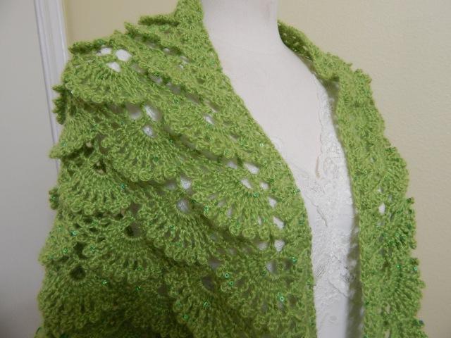 Shawl Triangular Crochet parte 1 de 2