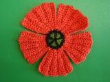 Цветок крючком Мак Ирландское кружево flower crochet poppy
