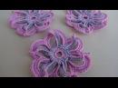 Как связать двухцветный цветок крючком Уроки вязания Мотив ирландского кружева