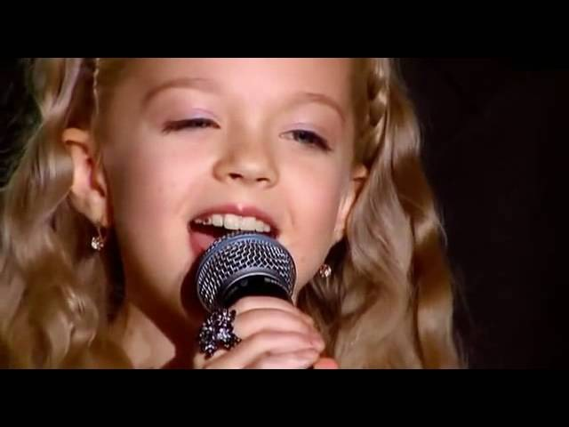 Anastasia Petrik (8-years old) Philip Kirkorov singing Snow (English lyrics)