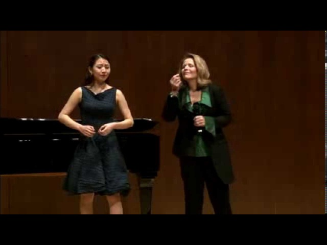 Renée Fleming Master Class, February 13, 2014: Pureum Jo and Daniel Fung