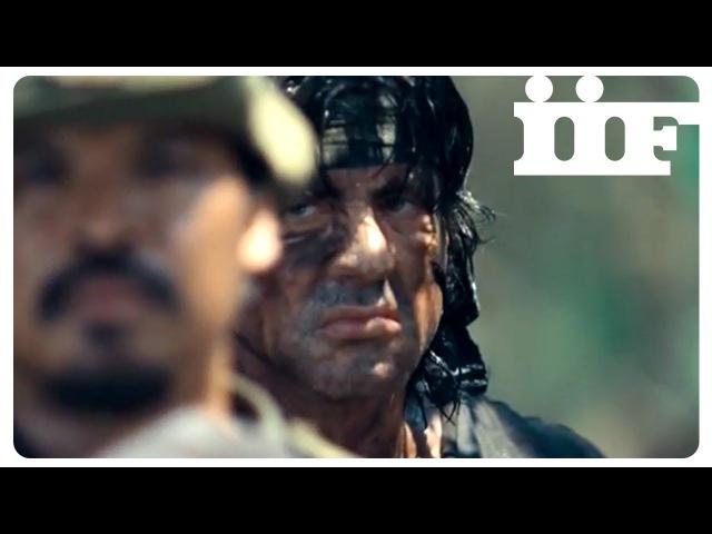 John Rambo Scena finale Mitragliatrice CLIP ITA