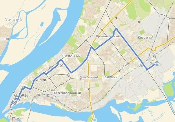 Схема проезда маршрутного