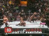 2000.01.23 Royal Rumble - End of HHH vs Cactus [Rock interferes]; Royal Rumble Match