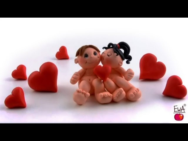 LET'S CLAY. How to make polymer clay VALENTINE