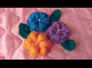 Вязание цветов цветков спицами