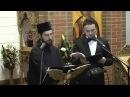 Arhim. Nikódimos Kabarnós şi protopsalt George Bucurică - Duminica Ortodoxiei 2014 - Coslada, Madrid