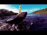 Big pike attacks & kills Magdraft. Fishing lure for bass muskie zander perch Рыбалка щука на силикон