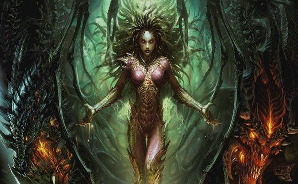В Minecraft создали гигантский портрет героини StarCraft 2