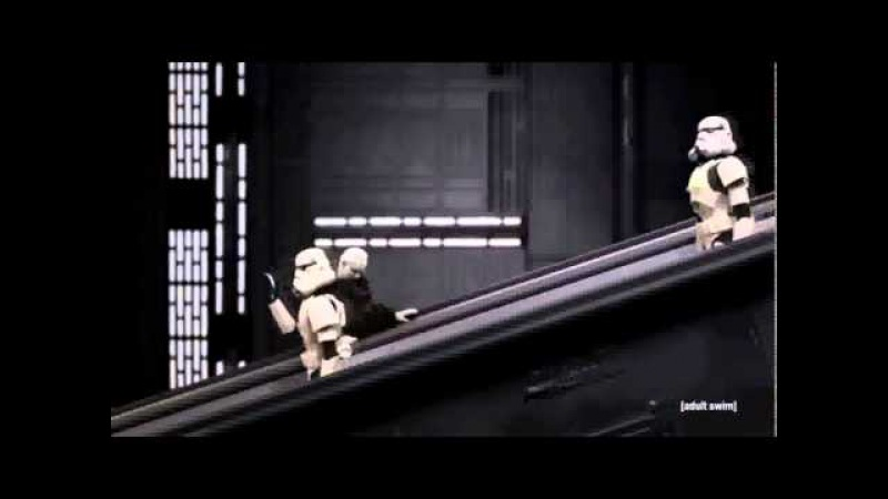 Star Wars, Робоцып. Император Палпатин и экскалатор.