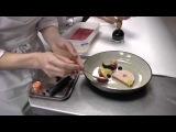 Michel Van Der Kroft prepares a signature dish with foie gras and eel at 't Nonnetje