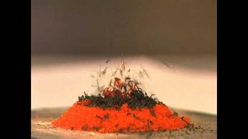 Вулкан-разложение дихромата аммония