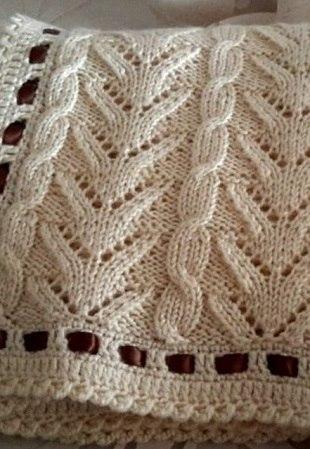 Вязание узора спицами (3 фото) - картинка