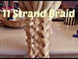 Cute Braided Hairstyles For Long Hair - 11 Strand Braid - Crix Hair Tutorials