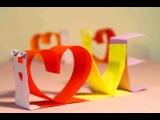 Valentines day crafts. Paper L.O.V.E. Snail