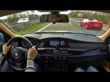 BWM M5 300 KM/H Autobahn Ride! - Loud TUNNEL sounds! - 1080p HD
