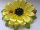 Подсолнух Канзаши flower Кanzashi Sunflower Мастер класс master class