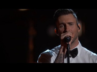 Adam Levine performs Lost Stars from the film Begin Again 22  02 2015
