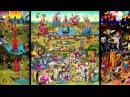 The Garden of Emoji Delights Triptych Animation by Carla Gannis