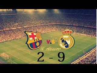 Барселона   Реал Мадрид игра ноябрь 2014 Полный разгром Барсы