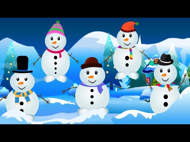 Five little Snowmen   Snowman Cartoon Videos For Babies   Kids Tv Nursery Rhymes For Toddlers