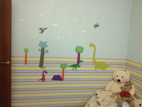 наклейка динозавры на стену фото