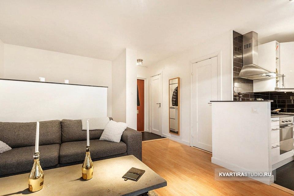 Аскетичный интерьер квартиры молодого человека 28 м в Кракове / Польша - http://kvartirastudio.