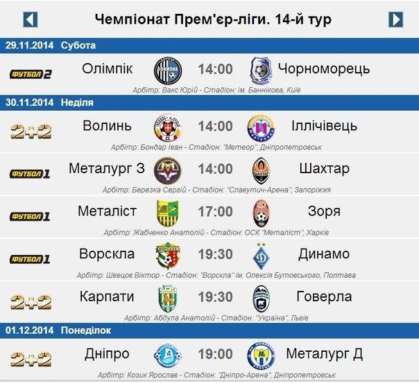 чемпионат украины по футболу 2014 2015 новости