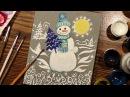 Speed Painting   Christmas Greeting Card   Snowman   Gouache   IOTN