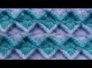Crochet: punto rombos en relieve