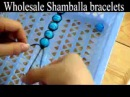 Make shamballa macrame bracelets with your own beads in 15 minutes step to step guide