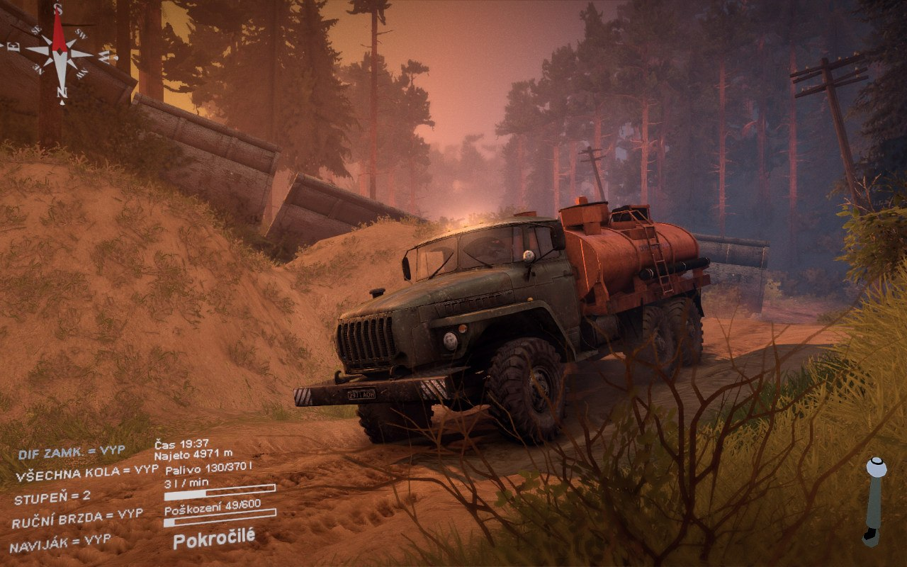 "Карта ""Abandoned mines"" для Spintires - Скриншот 3"