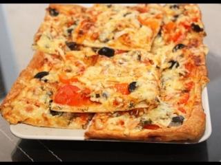 Рецепт Пицца быстро и просто на слоеном тесте - очень простой и вкусный рецепт