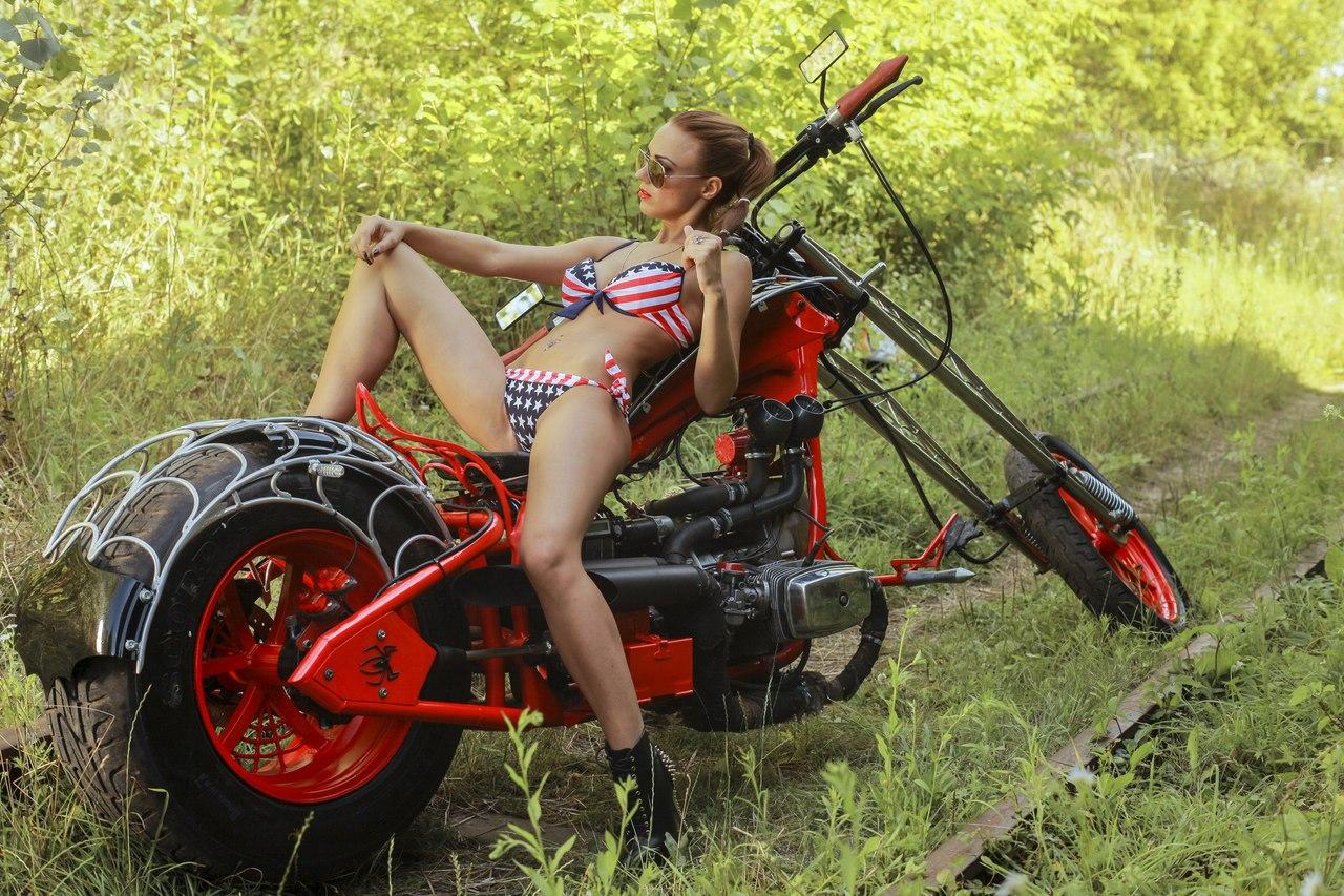 Русские девушки и мотоциклы 15 фотография