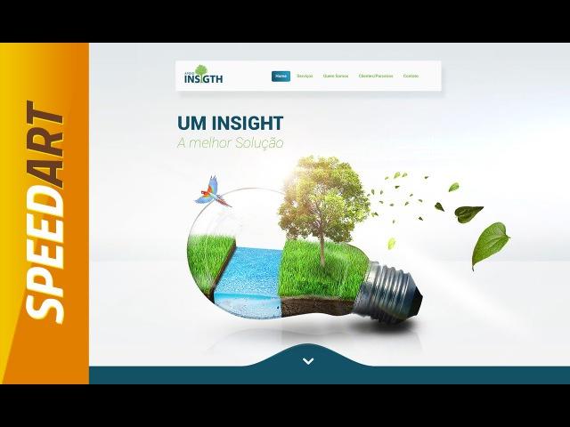 Speed Art - Responsive Web interface Insight - Flat Design