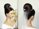 Свадебная прическа. Прическа на свадьбу для средних волос.